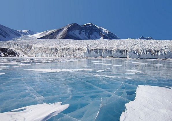 Fryxellsee Landscapes Nature Blue Ice Antarctica P