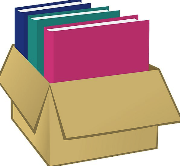 Box Storing File Folder Storage Books Carton Shipp