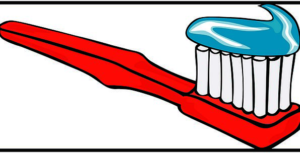 Toothbrush Medical Health Red Bloodshot Toothpaste