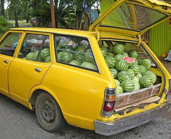 Watermelon Traffic Distribution Transportation Car
