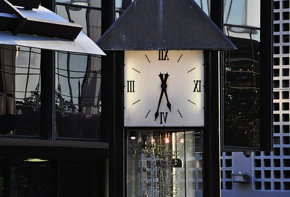 Clock Timepiece Barbican Downtown Center Tower Dal