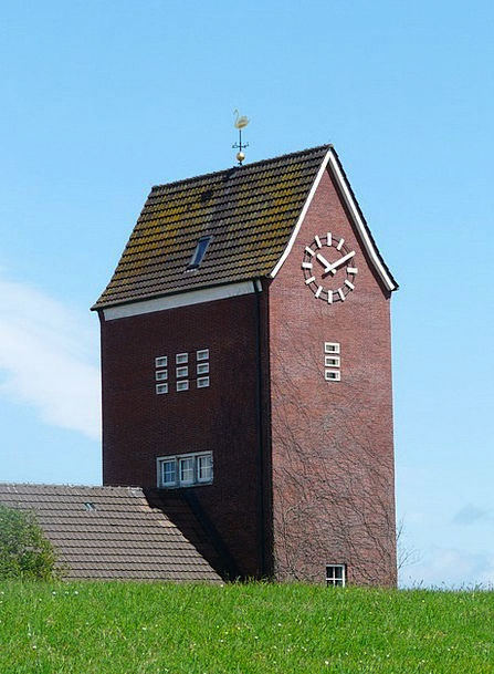 Steeple Tower Church Ecclesiastical Baltrum Time O
