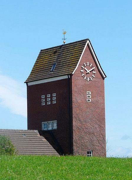 Steeple Tower Church Ecclesiastical Baltrum Time O