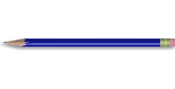 Pencil Azure Writing Script Blue Tools Supplies Pr