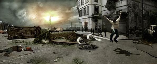 Skate Skateboard Doomsday Armageddon Apocalyptic C