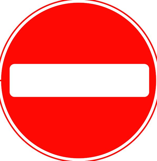 Sign Symbol Wrong Way Do Not Enter Delete One Way Street