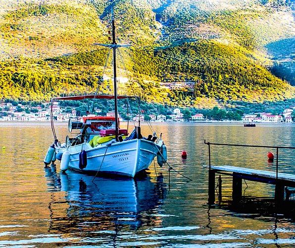 Fishing Boat Landscapes Beginning Nature Sunrise D
