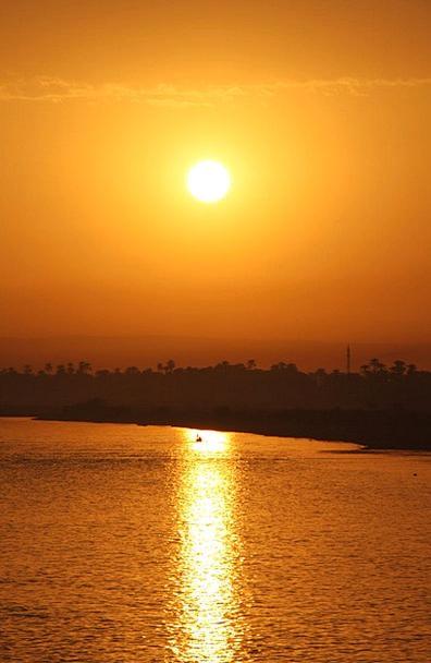 Egypt Vacation Sundown Travel Nil Zero Sunset Sun