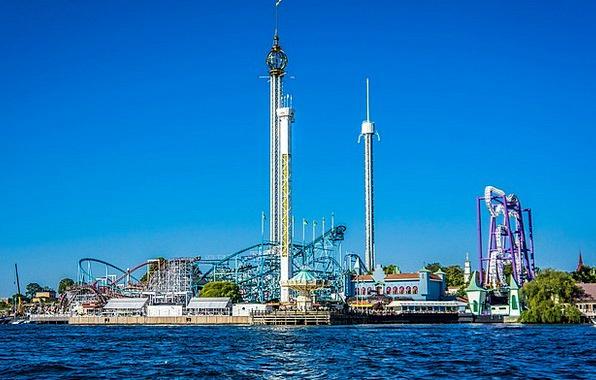 Amusement Park Funfair Sweden Stockholm Europe Swe