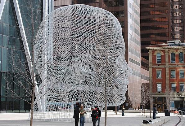 Canada Head Skull Calgary Street Art