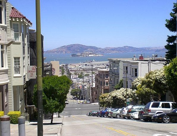 Alcatraz Street View San Francisco Hill Knoll Cali