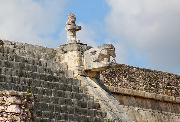 Mexico Pyramid Chichen Itza Kukulcan The Ruins Of