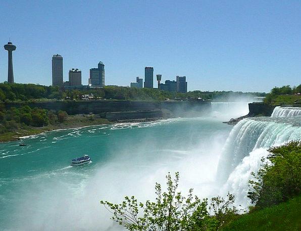 Niagara Falls Landscapes Cascade Nature Skyline Ho