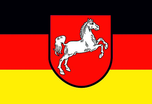 Flag Standard Federal Republic Of Germany Lower Sa