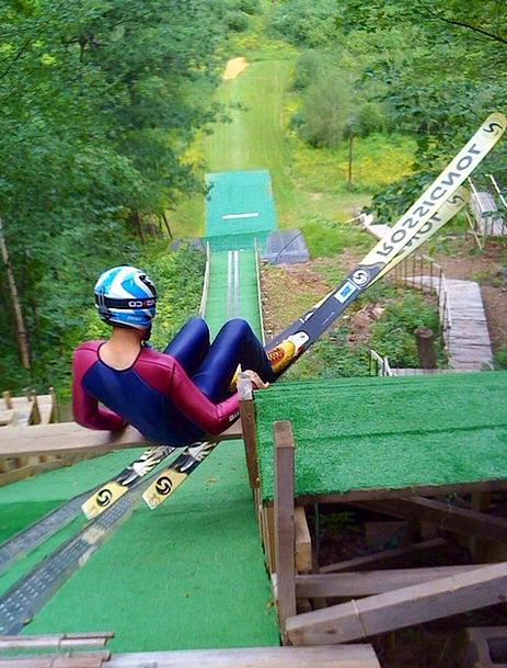 Ski Jumping Extreme Dangerous Ski Action Act Jump