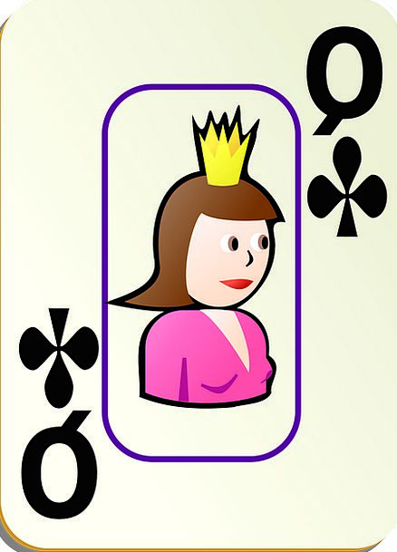 Clubs Bats Monarch Card Postcard Queen Recreation