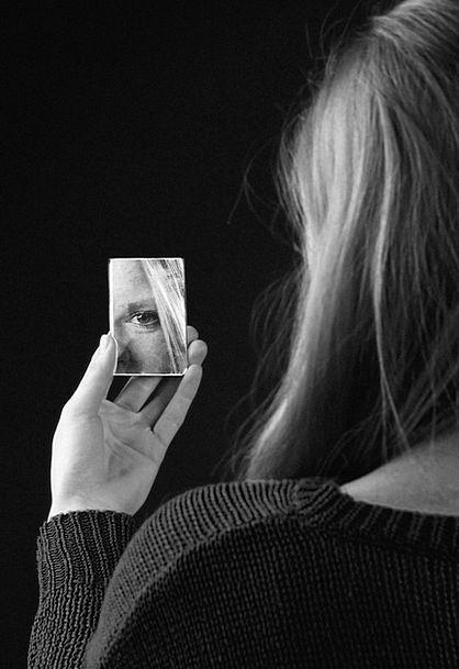 Girl Lassie Glass Black Dark Mirror