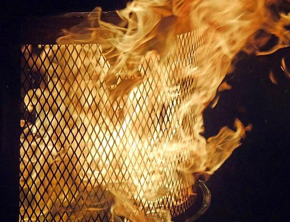 Flame Blaze Nighttime Nocturnal Fire-Pit Fire Pass