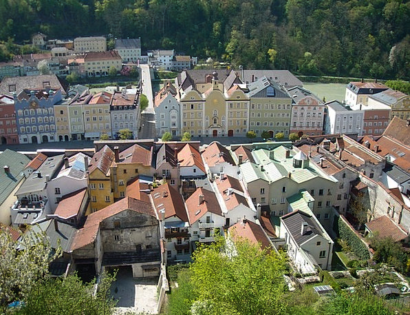Burghausen Middle Ages Upper Bavaria Historical Ci