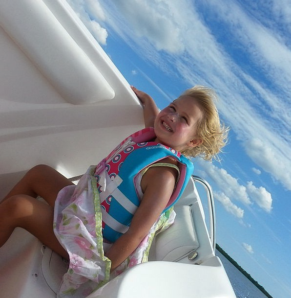 Boat Ship Lassie Outside Outdoor Girl Smiling Amus