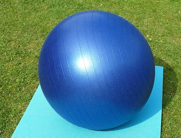 Exercise Ball Big Blue Azure Large Gymnastics Aero