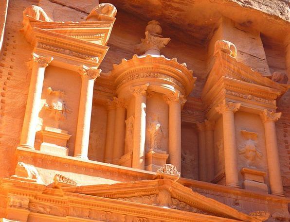 Petra Treasury Capital Jordan Desert Khazne Firaun