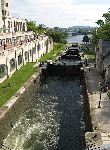 Rideau Canal Traffic Transportation Locks Hairs Ot