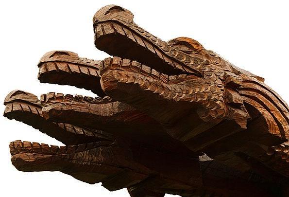 Animal Physical Painting Dragon Art Wood Fantasy I