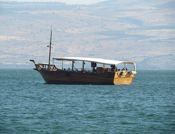 Galilee Vacation Ship Travel Israel Boat Scenery T