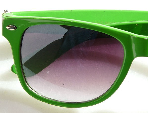 Sunglasses Shades Dark Dim Sun Green Lime Glasses