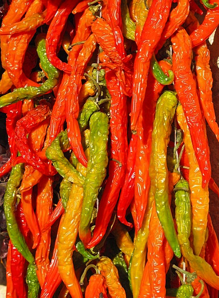 Chili Paprika Pepperoni Spice Interest Colorful Co