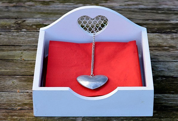 Napkins Bibs Heart Emotion Napkins Holder Decorati
