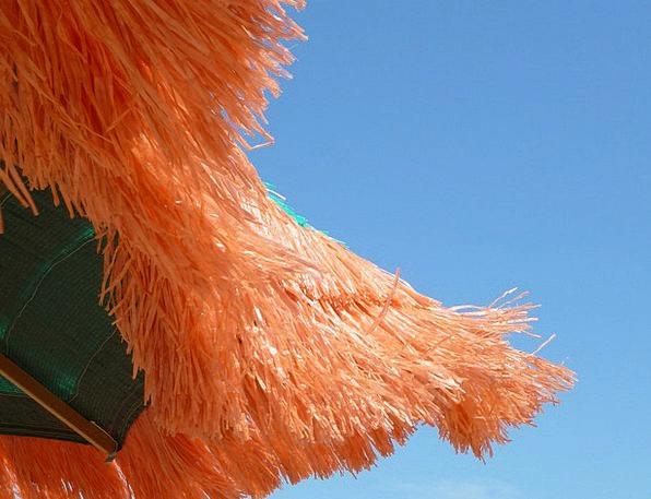Parasol Sunshade Bloodshot Blow Setback Red Summer