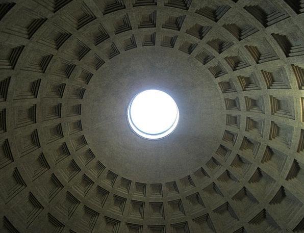 Pantheon Dome Vault Domed Roof Romans Rome Buildin