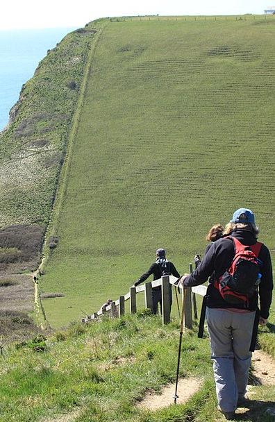 Jurassic Cliffs Precipices Coastpath Steps Ladders