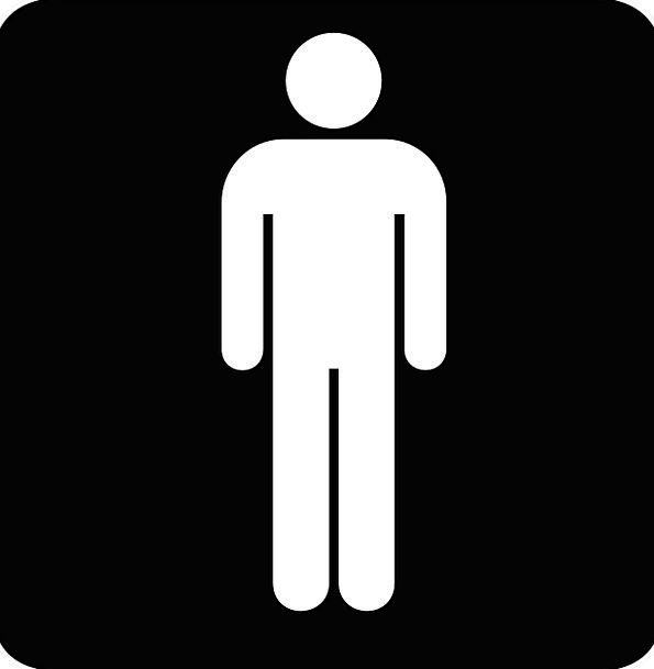 Sign Symbol Sex Toilets Lavatories Gender Gents Ba