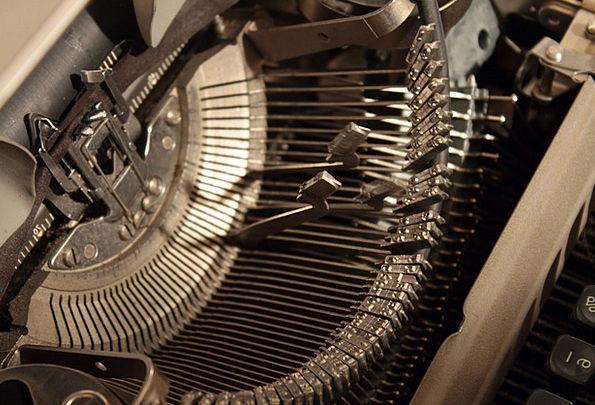 Typewriter Manual Physical Typebars Antique Old Re