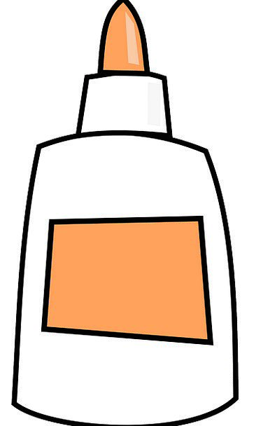 Glue Flask White Snowy Bottle School Supplies Stic