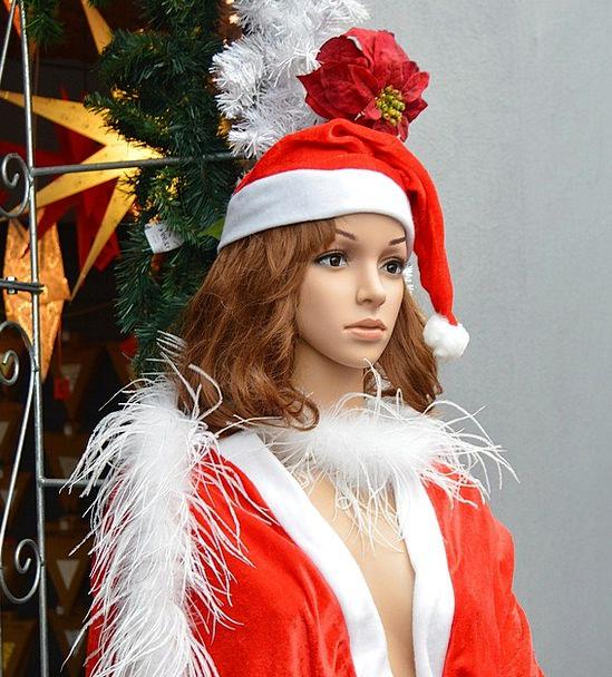 Christmas Woman Shopping Spending Display Dummy Fi