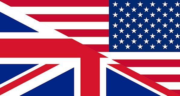 Flags Streamers Great Britain Unites States United