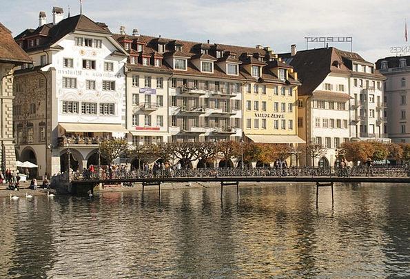 Switzerland Bridge Bond Lucerne Lake Freshwater