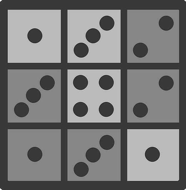 Tile Inlay Dots Spots Domino Dominoes Free Vector