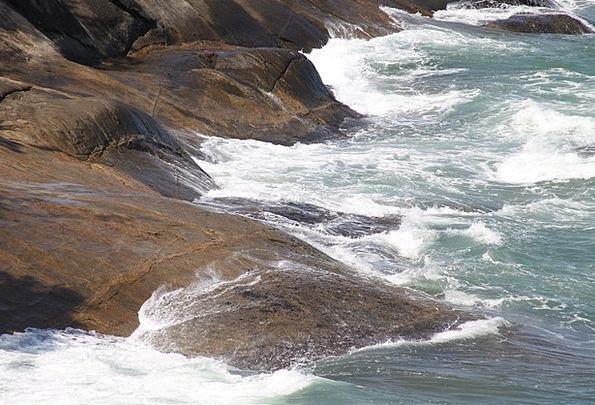 Waves Surfs Gravels Beaches Seashores Stones