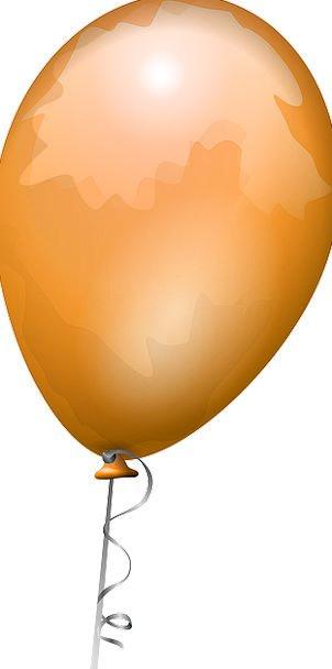 Balloon Inflatable Carroty Shiny Glossy Orange Cel