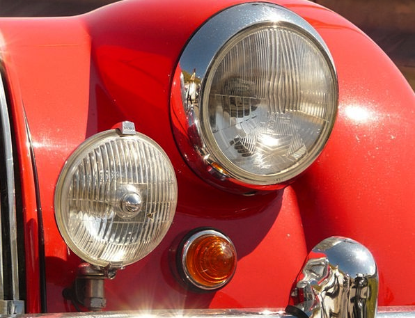 Oldtimer Car Spotlight Attention Auto Light Bright