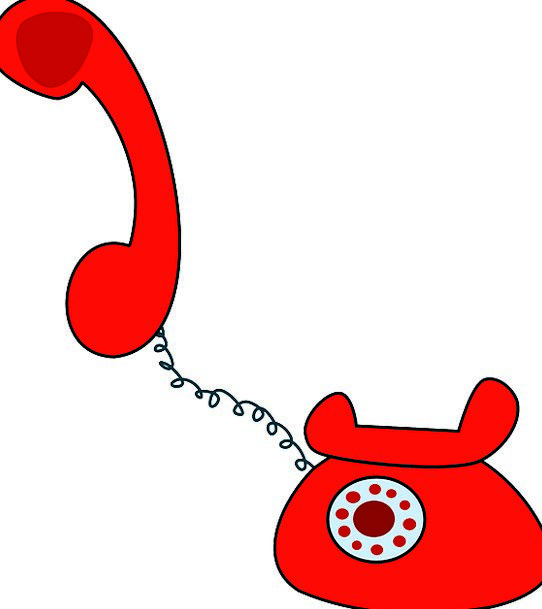 Telephone Communication Usual Computer Red Bloodsh