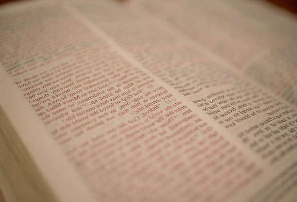 Scripture Christian Bible Book Volume Open Page Ed