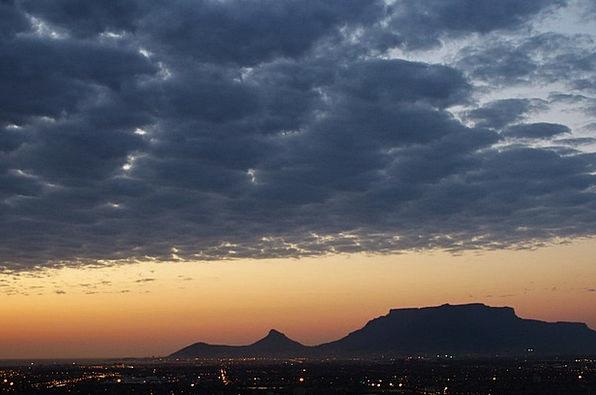 South Africa Vacation Travel Sunset Sundown Table