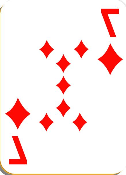 Playing Card Card Diamonds Rhombuses Seven Leisure
