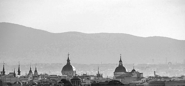 Skyline Horizon Domes Vaults Madrid Mountains Chur